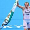 男子铁人三项比赛布卢门费尔特在10公里长跑赛程最后1公里脱颖而出