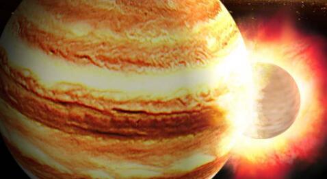莱斯大学和中山大学的科学家称木星在其生命早期与一颗原行星相撞