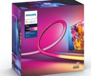 飞利浦HuePlay渐变灯带从一条灯带上发出多种颜色