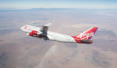 维珍轨道成功地从莫哈韦沙漠上空投下了火箭