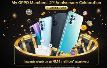 我的OPPO应用2周年带来幸运抽奖等截止到2021年10月31日
